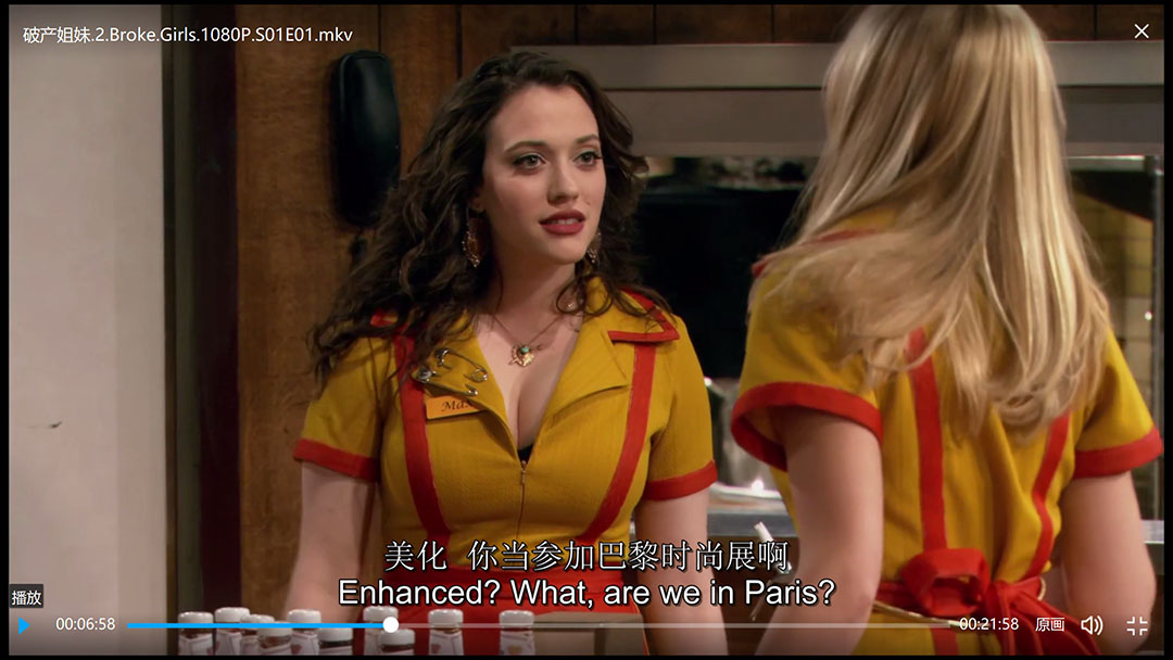 破产姐妹.2.Broke.Girls.1080P.S01E01.mkv第一季第一集